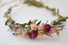 Dried Floral Crown – Wildflower Bridal Head Wreath – Bohemian Floral Crown Source by etsy Floral Crown Wedding, Bridal Crown, Floral Crowns, Boho Wedding, Wedding Flowers, Flower Head Wreaths, Floral Headpiece, Floral Hair, Bouquet