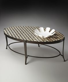Loving this Gold & Black Cocktail Table on #zulily! #zulilyfinds