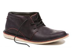 Men's Leather Shoes | Fair Trade Certified Shoe for Men- Oliberte | ADIBO Black/Red Pullup