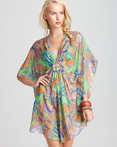 Colorful and feminine for the day or night. Wear with a pair of sandals, or dress up with a pair of wedges.