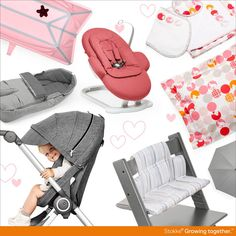 Grey + Pink trends | Stokke = Scandinavian original, child-centric designs for Baby and Kids