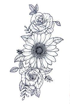 Sunflower Tattoo Sleeve, Sunflower Tattoo Shoulder, Sunflower Tattoos, Sunflower Tattoo Design, Flower Tattoos On Shoulder, Colorful Sunflower Tattoo, Shoulder Cap Tattoo, Girl Shoulder Tattoos, Sunflower Drawing