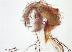 "urgetocreate: ""John Byrne, Tilda Swinton, 2001 """