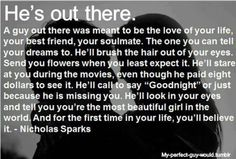 K Nicholas sparks.. Find him lol