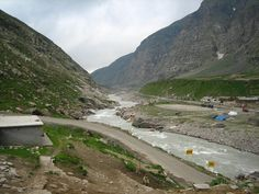 River Chandra, flowing through the desolate and extremely harsh Lahoul Valley...