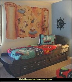 Pirate's Map wall murals-pirates theme bedroom decorating ideas
