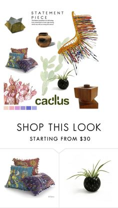 """prikly decor"" by fl4u ❤ liked on Polyvore featuring interior, interiors, interior design, home, home decor, interior decorating, Lela Rose, Seed Design and Cactus"