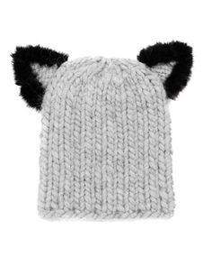 Felix Fur-Trim Cat-Ear Skull Cap by Eugenia Kim at Neiman Marcus. cee258907386