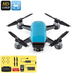 The DJI Spark Mini Drone is an epic quad-copter that features a built-in camera to shoot breathtaking pictures and video. Dji Spark, Tech Gadgets, Cool Gadgets, Best Online Clothing Stores, Micro Drone, Remote Control Drone, Drone Quadcopter, Drones, Drone For Sale