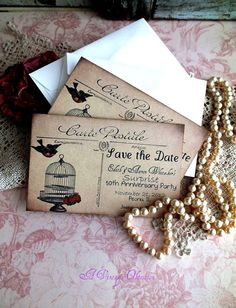 Wedding or Anniversary Save the Date Vintage by AVintageObsession, $37.50