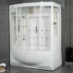 "Check out the Ariel Bath ZA210 AmeriSteam 42""W Steam Shower Enclosure in White priced at $3,790.50 at Homeclick.com."