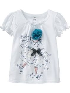 Ruffle-Neck Graphic Tees for Baby, OldNavy. $12.94