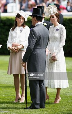 Catherine, Duchess of Cambridge (R) attends day 2 of Royal Ascot at Ascot Racecourse on June 15, 2016 in Ascot, England.