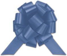 Bows - Royal Blue Satin Perfect Pull Bows, 18 Loops, 4' (50 per box) - BOWS-257-0418-16 ** Check out this great product.