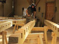 Floor joists #timberframe Castle Ring Oak Frame workshop:
