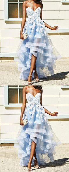 sexy a-line sweetheart blue tulle long prom/evening dress #prom #promdress #promdresses #eveningdress #eveningdresses