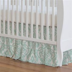 Gray and Taupe Woodland Animals Crib Skirt Gathered made with care in the USA by Carousel Designs. Mint Paint, Grey Paint, Jenny Lind Crib, Lilac Painting, Mint Nursery, Free Fabric Swatches, Carousel Designs, Coral Springs, Crib Skirts