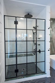 Servicing Chicago since 1972 with custom frameless glass shower doors and enclosures at factory direct prices. Check out all of the beautiful grid designs on our custom shower doors and set up a free consultation! Bathroom Design Layout, Bathroom Interior Design, Modern Shower, Modern Bathroom, Glass Shower Panels, Shower Screens, Bathroom Wall Decor, Basement Bathroom, Bathroom Furniture