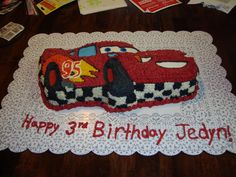 Lightning McQueen Cake
