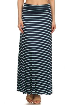 Stripes Away Maxi Skirt