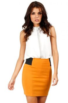 Honey mini skirt with sexy cut