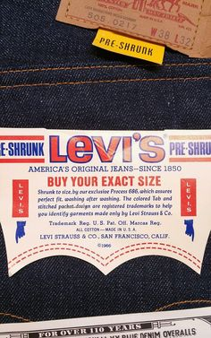 Vintage Levi's 505 Big E Red Tab / Authentic 1967-1971 / True Vintage Jeans NWT