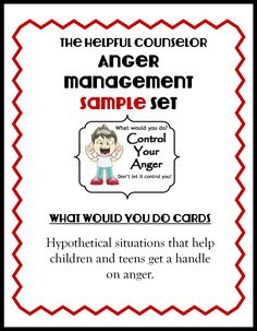 I work with angry kids every day I go to work (and sometimes at home with my own 3 kiddos). We all feel anger. Anger is not bad in of itself; it's what we do when we are angry […]