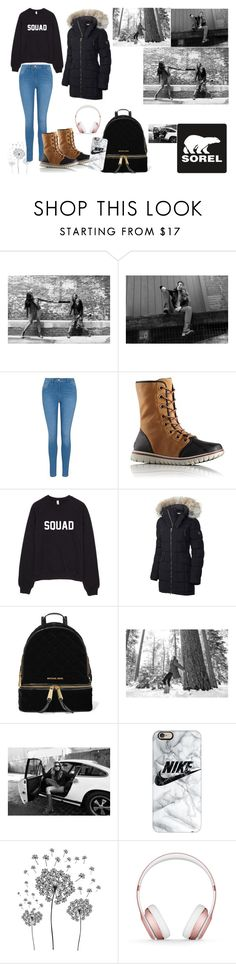 """Tame Winter with SOREL: Contest Entry"" by omaduviemaya ❤ liked on Polyvore featuring SOREL, George, MICHAEL Michael Kors, Casetify, jcp, Beats by Dr. Dre and sorelstyle"