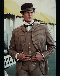 Christopher Reeve in Somewhere in Time Looks even better in color! Christopher Reeve, Somewhere In Time, Movie Stars, Movie Tv, Dc Comics, Image Film, Films Cinema, My Superman, Best Love Stories