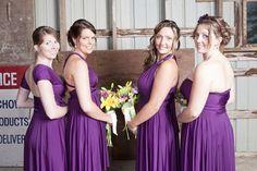 Convertible jersey bridesmaid dress