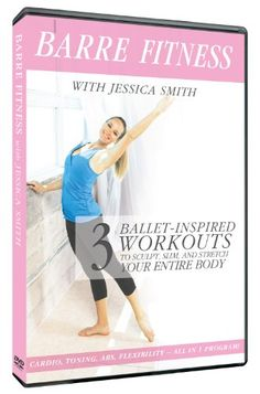 Barre Fitness: 3 Ballet Inspired Cardio, Strength + Abs Routines to Sculpt, Slim with Jessica Smith Workout Dvds, Barre Workout, Workout Videos, Cardio, Exercise Videos, Ballet Body, Jessica Smith, Ab Routine, Facial Exercises