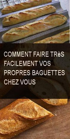 Comment faire très facilement vos propres baguettes chez vous #Baguette #Commentfaire #Comment #Faire #Propre #Facile #Tresfacile Baguette Recipe, Bulgarian Recipes, Easy Bread, Zucchini Bread, Bread Recipes, Bakery, Food Porn, Food And Drink, Lunch