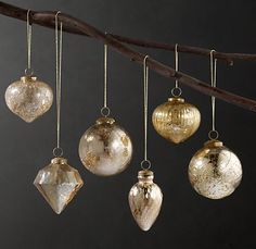 LOVE these Vintage Hand-Blown Glass Ornaments from Restoration Hardware!
