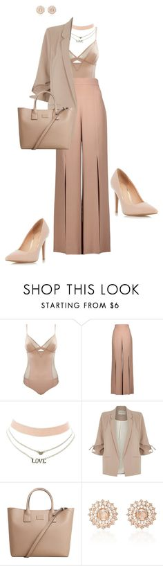 """""""Nudes"""" by ccoss ❤ liked on Polyvore featuring Cushnie Et Ochs, Charlotte Russe, River Island, MANGO, Nam Cho and Dorothy Perkins"""