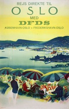 Vintage Travel Posters, North Africa, Oslo, Yachts, Norway, Places To Travel, Boats, Sailing, Travel Tips