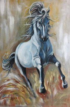 Shadow horse / acrylic paint