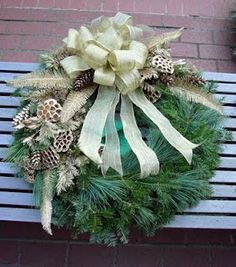 White Christmas Wreath!