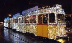 Christmas tram cheers Budapest - runs until Train Tracks, Eurotrip, Hungary, Budapest, Europe, World, Cheers, Merry Christmas, Travel