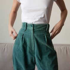 Corduroy pants!! And such a beautiful green
