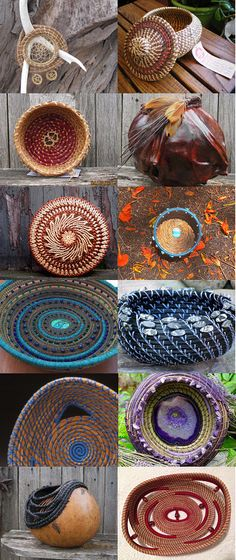 Pine Needle Baskets, Gourds
