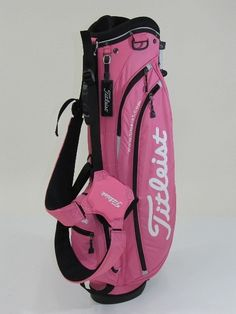 Pink Titelist golf bag.  Works for me. My current bag is green with Pink furry covers for my drivers.  My dad bought them for me as a nod to my sorority Alpha Kappa Alpha.