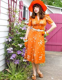 Limited edition Mary dress orange bubbles