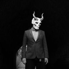 Sometimes, we've just got to take life (or death) by the horns and do something a little different. The Horned Skull Mask takes our favourite symbol of warning,