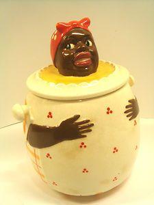 "Maruhon Mammy Cookie Jar ""Very Rare"" negro black memorabilia"