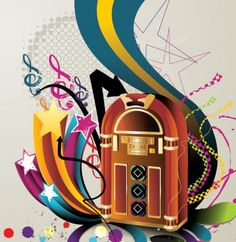 Retro Radio Music Abstract Vector Background - http://www.dawnbrushes.com/retro-radio-music-abstract-vector-background/