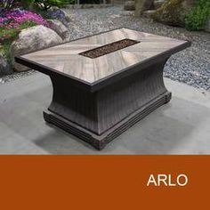 Arlo - 32 x 52 Inch Rectangular Fire Pit Table w/ Strip Burner in N/A - TK Classics Fp-Arlo-Kit , backyard design diy ideas Propane Fire Pit Table, Fire Table, Concrete Fire Pits, Wood Burning Fire Pit, Natural Gas Fire Pit, Rectangular Fire Pit, Patio Daybed, Fire Pit Ring, Fire Pit Designs
