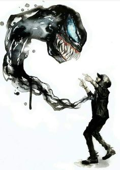 The music video for venom from Eminem was so awesome so this definitely deserves to be pinned Venom Comics, Marvel Venom, Marvel Vs, Marvel Heroes, Marvel Characters, Character Drawing, Comic Character, Eminem Wallpapers, Venom Art