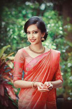 Kerala Engagement Dress, Engagement Saree, Engagement Dresses, South Indian Bride Saree, Kerala Bride, Bridesmaid Saree, Gold Bridesmaid Dresses, Prom Dresses, Wedding Dresses