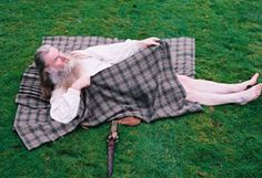 """How to Wrap a Great Kilt-All right,"""" he said with resignation. """"Laugh if ye must."""" Getting into a belted plaid wasn't the most dignified thing a man could do, given that the most efficient method was to lie down on the pleated fabric and roll like a sausage on a girdle. Jamie could do it standing up, but then, the man had had practice."""
