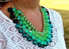How to Make Ombre Jewelry Tutorials - The Beading Gem's Journal -- Must dip my toes in the ombre pond...